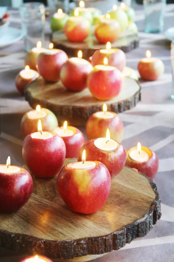 Apple Tealight Candles by Little Green Notebook