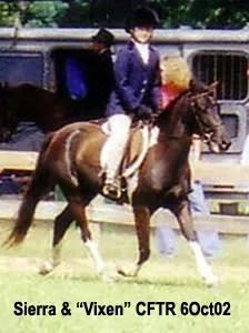 Sierra and Vixen - CFTR Horse Show - 2002