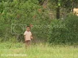 Child in field (c) Lynda Bernhardt