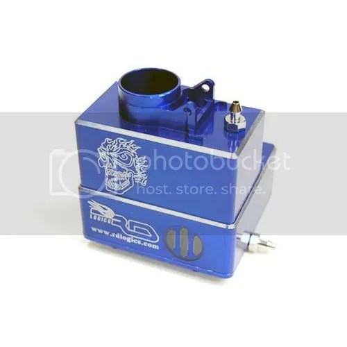 rc car fuel tank blue aluminum
