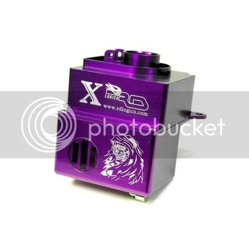 nitrol rc car purple aluminum fuel tank