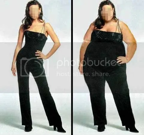 slim woman vs fat woman