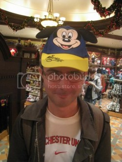 Mike and his mickey mouse hat