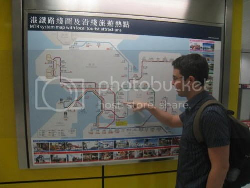 Map of MTR Hong Kong