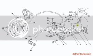 Ducati Rear Brake light tail light stop Switch sensor