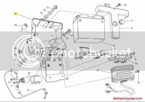 Ducati Battery Tray holder Box: 8481098 EVO 1198 1198S