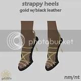 SH Gold Black Leather