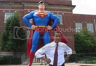 Barack Obama and Superman