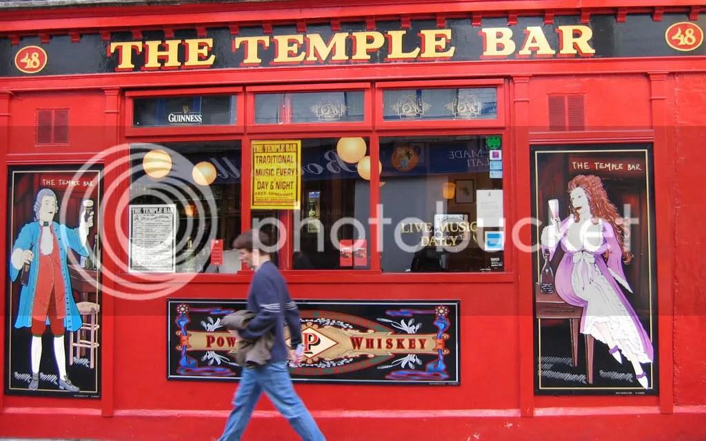 The Temple Bar bar on Temple Bar, haha