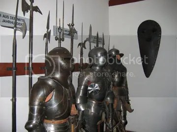 Armor display inside Marksberg castle