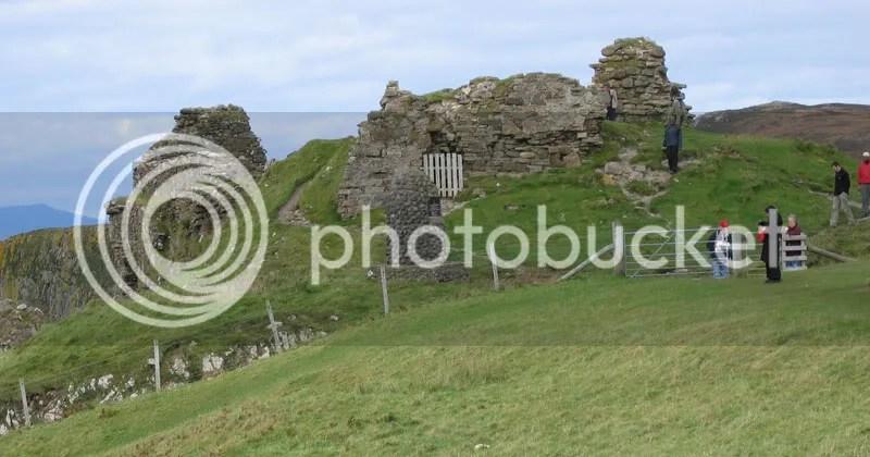 Duntulum castle ruins, my tour group