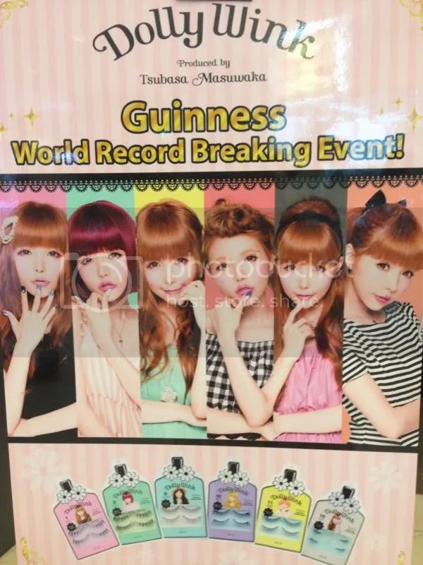 57f2e3bc844 On 20th September 2014, Dolly Wink was set to break the Guinness World  Record of The Most People simultaneously applying fake eyelashes. The  previous record ...