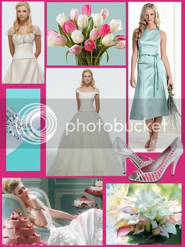 Wedding - Pink and Aqua