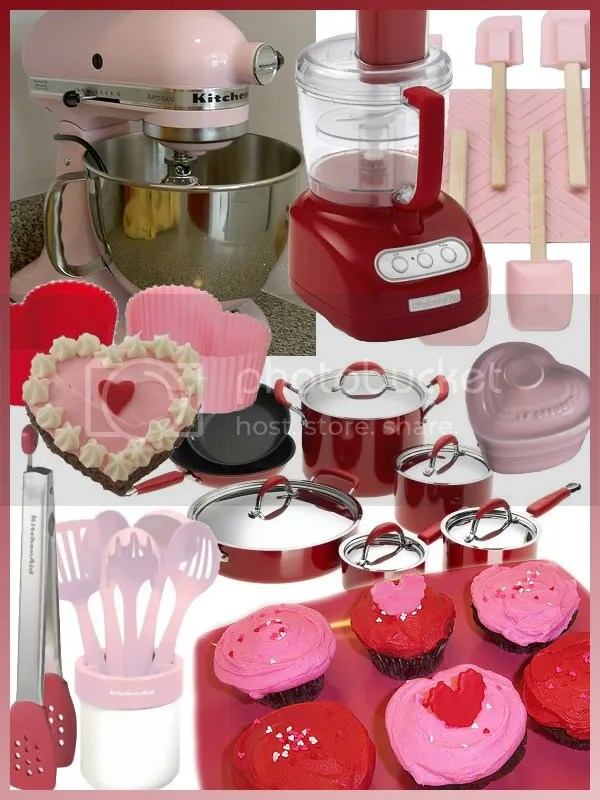 Pink and Red Kitchen