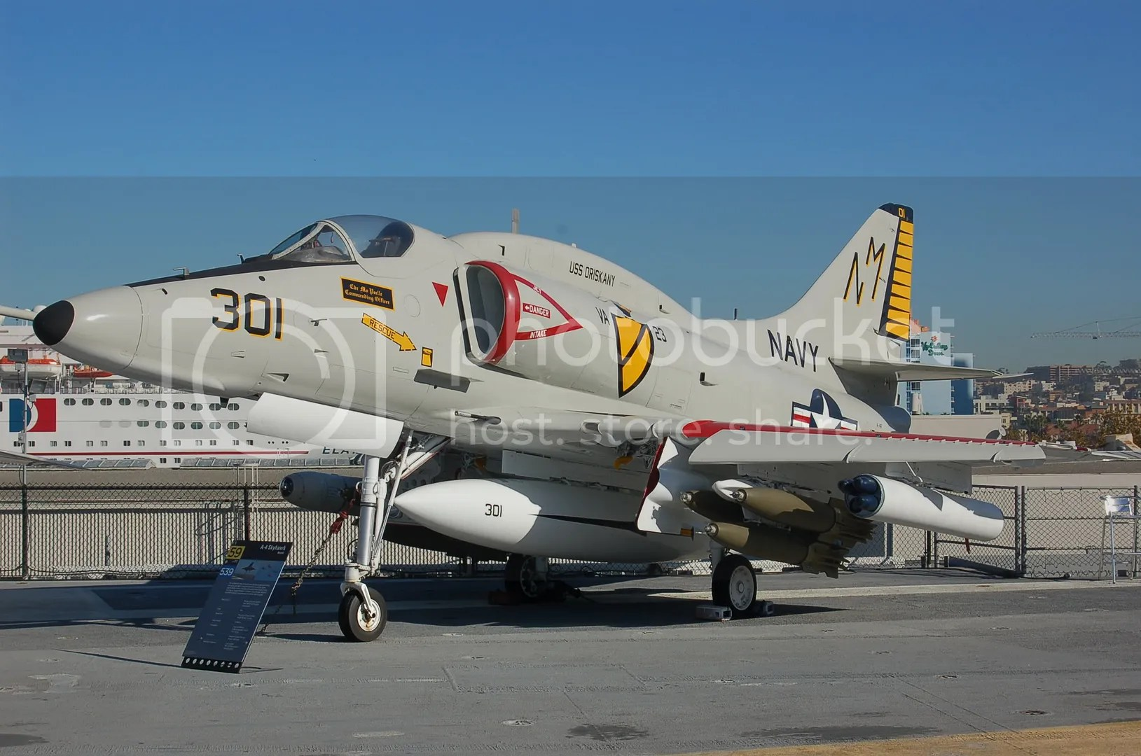 The A-4 Skyhawk - the plane McCain flew in Vietnam.