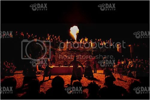 The awesome music from Ab Inferis lit up by an amazing fire breather.