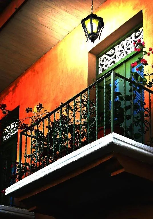 Colorful balcony of a restored residence at Casco Viejo, Panama City, Panama.  (Credit:  Omar Upegui R./Michael Moore)