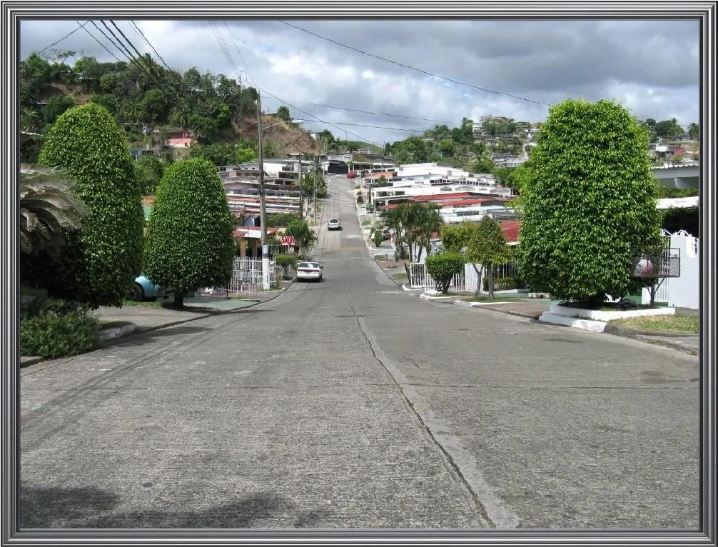 Vie of Calle Las Acacias at El Bosque neighborhood in Tumba Muerto.