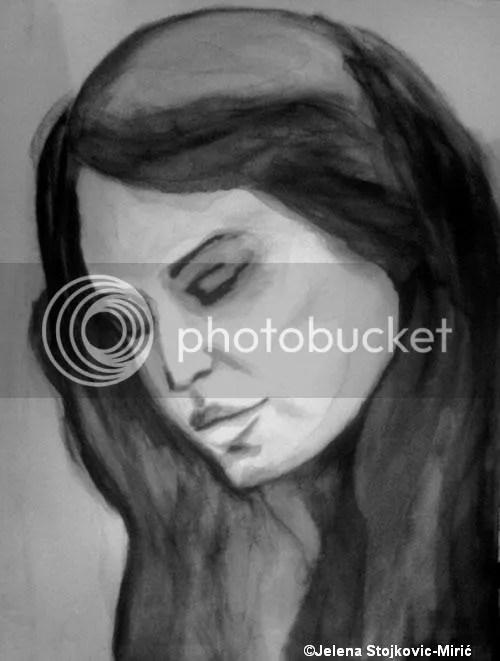BEZIMENI PORTRET, Jelena Stojkovi�-Miri�(format 30x40, tehnika:tuš na platnu)