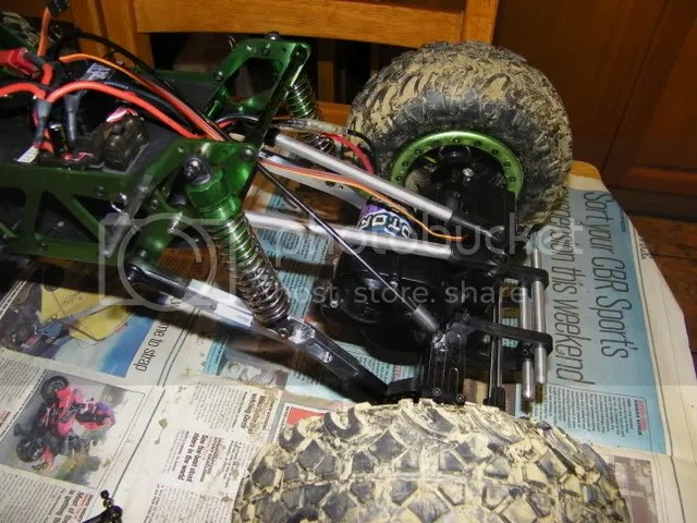New Gmade suspension arms and axles for the HSP rockcrawler.