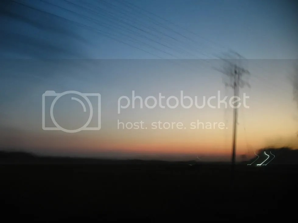 this is sunrise image viewed from bus