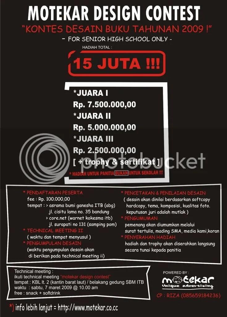 motekar design contest poster