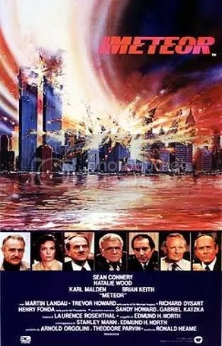 Image result for 1979 / 'Meteor' - Starring Sean Connery 911 prediction