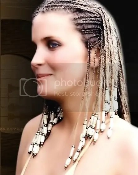 Photo of Bo Derek with her beautiful cornrow hair.