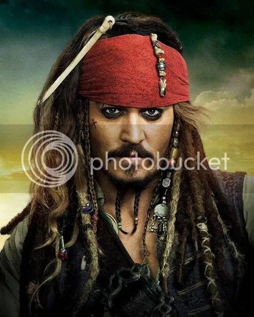 Imagem de Jack Sparrow penteado.