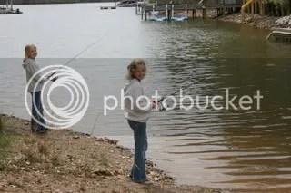 Bailee, Macey fishing