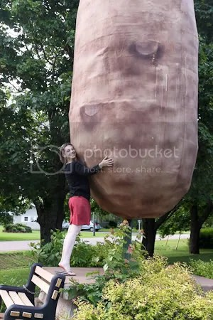 Me with a giant potato!