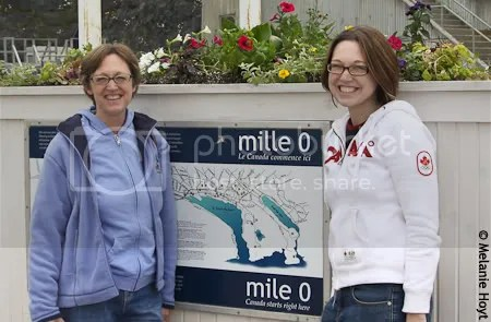 Mel and Mama at Mile Zero