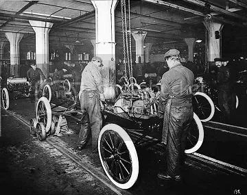 Detroit once led the world in industrial assembly technology and industrial relations.  Fords Model T Assembly Plant was notable not only for the techniques it used to make autos but also for the high wages paid its workers.