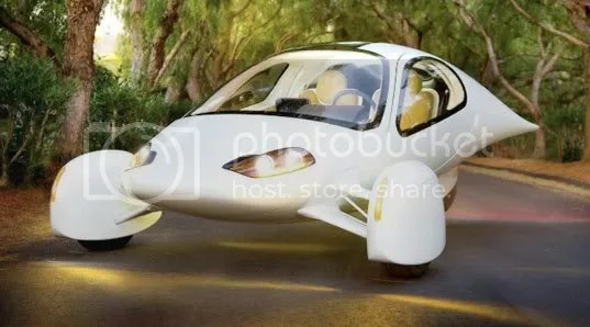 Aptera, with their revolutionary Typ-1, are radically restyling passenger vehicles to save weight and energy.  Though classified as a motorcycle, Aptera is trying to exceed passenger car safety standards in their design