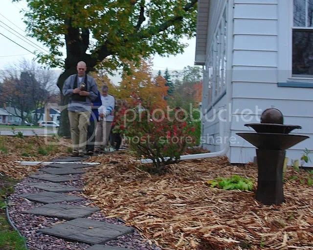 Beautiful fall colors were part of the ceremony honoring the eco-friendly garden in Marquette, MI