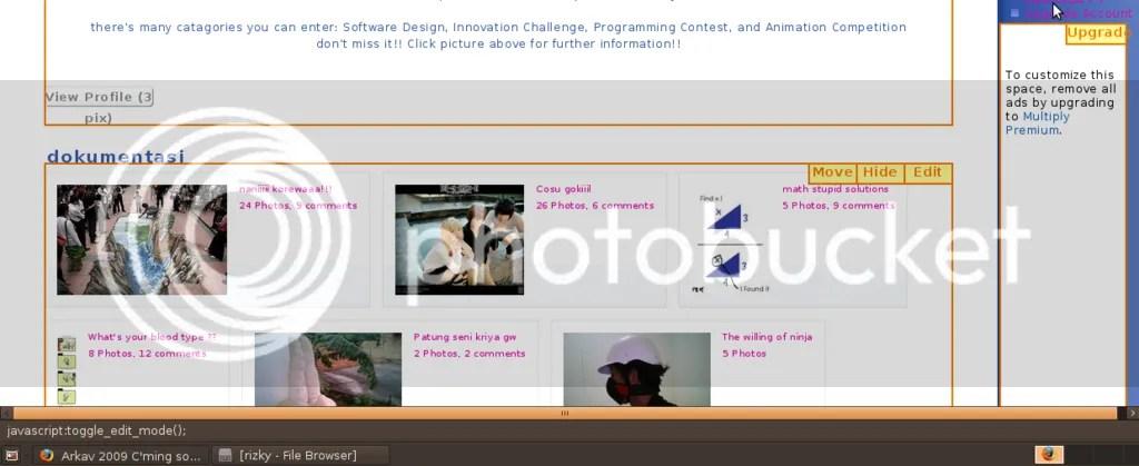 Screenshot dari penampakan java script