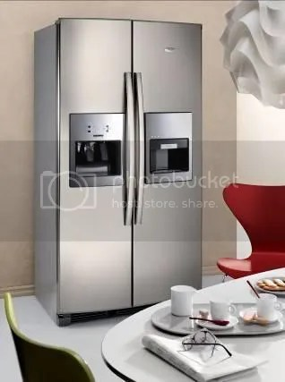 Fridge with Built-in Espresso Machine