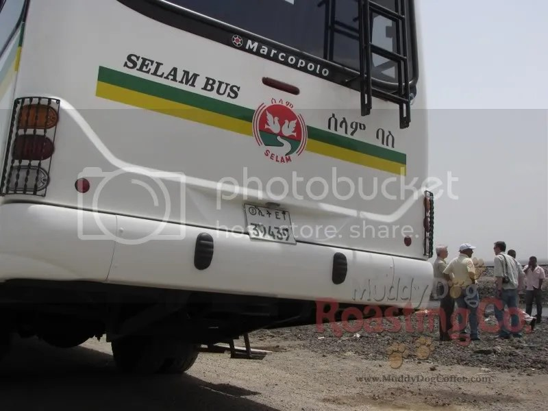 This is the bus that took us around Ethiopia the first week.  Despite having no AC, it was the finest bus I saw in the country - those USAID people know how to travel.  Note the Amharic characters on the right, perhaps the most literal translation I saw: Sa La Em Ba Se