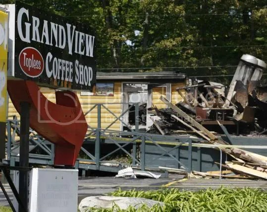 Grand View Topless Coffee Shop - Now a Roofless Shop, too