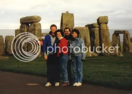 Dominican students at Stonehenge, circa 1985
