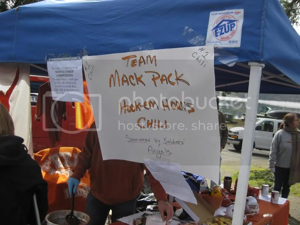 Team Mack Pack Hook em Horns Chili Sponsored by Soldiers Angels