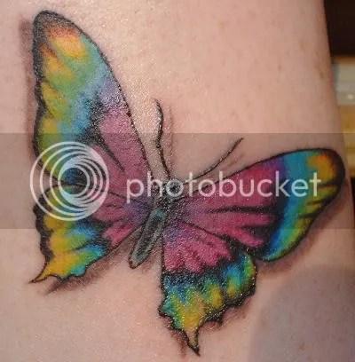 Rainbow tattoos are also gaining popularity among women.