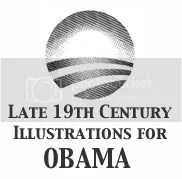 Late 19th Century Illustrations for Obama - PNG