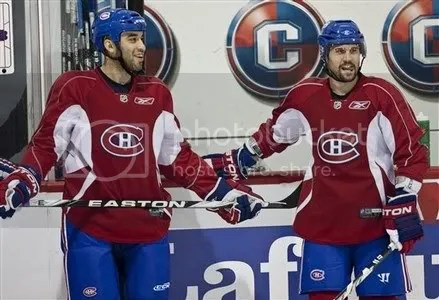 Scott Gomez and Brian Gionta Montreal Canadiens