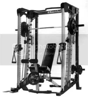 Nautilus Smith Machine With Cable Crossover For Sale