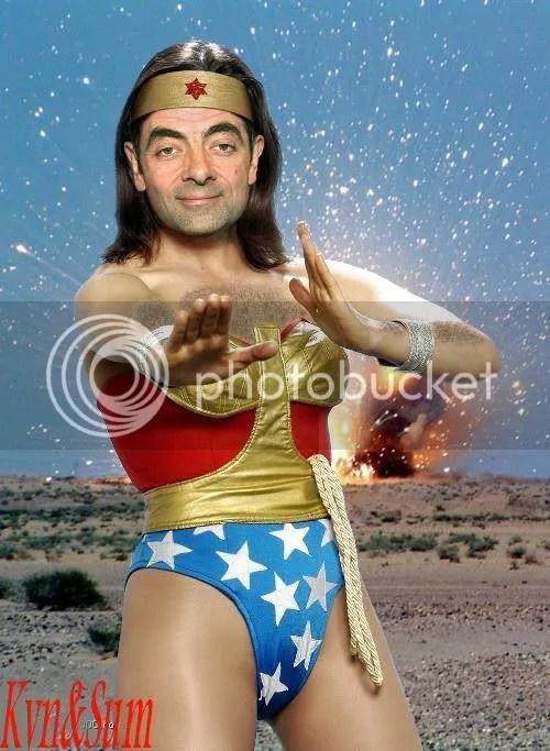 Mr Bean, Cogiengose a la mujer maravilla