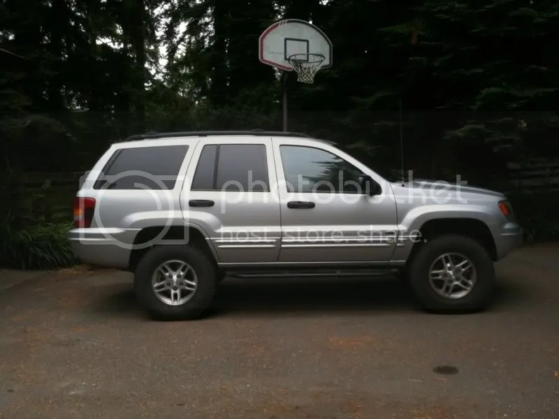 Jeep Grand 4 265 Cherokee Lift Wj 1999 R16 70 Inch Tires
