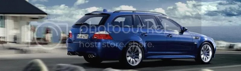 BMW M5 Touring:  500hp, 0-6- @ 4.7sec