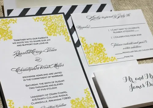 Affordable Wedding Letterpress Invitations