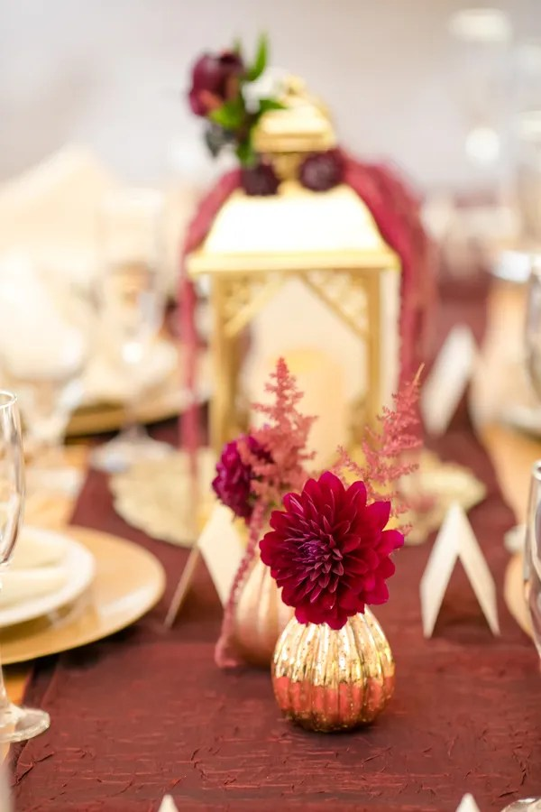 Burgundy And Gold Fall Barn Wedding The Perfect Palette